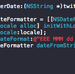 【iOS】Twitter APIの日付(created_at)をNSDateに変換する